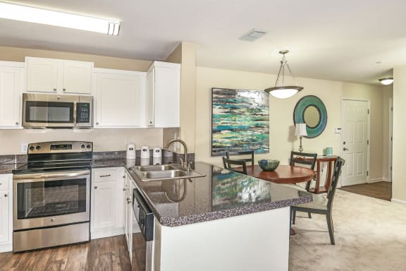 The Colony at Deerwood fully-equipped kitchens with microwaves
