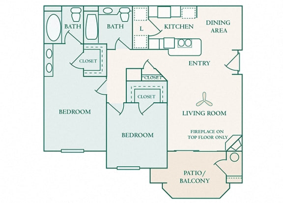 The Commons - B1 - Brighton - 2 bedroom - 2 bath