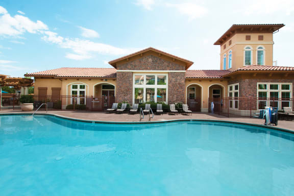 Foothills at Old Town Apartments sparkling resort-style pool and spa