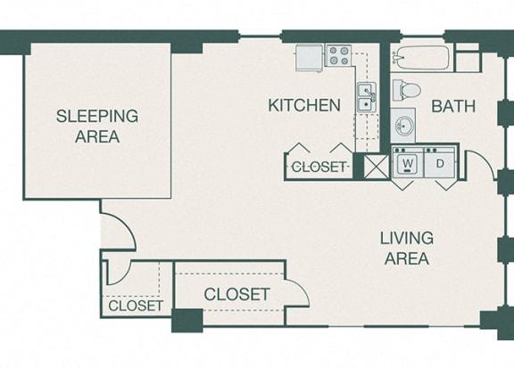 The Kirby - A11 - Loft 502 - 1 bedroom - 1 bath