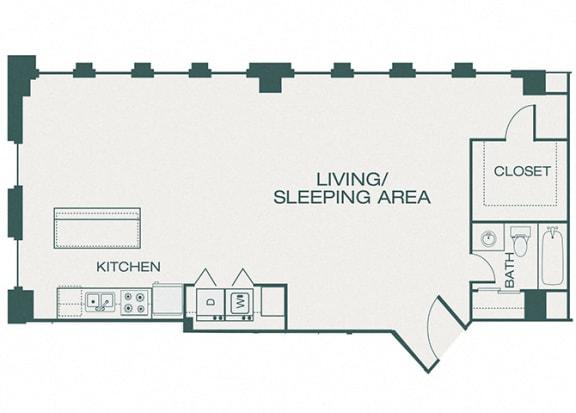 The Kirby - B1 - Fitzhugh - 2 bedroom - 2 bathroom