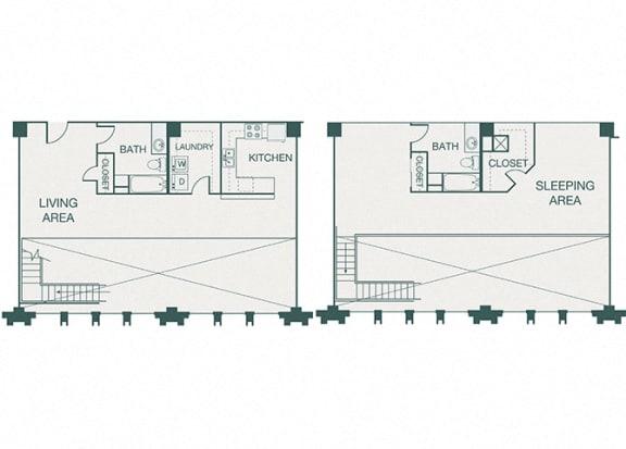 The Kirby - B6 - 1 bedroom - 2 bathrooms