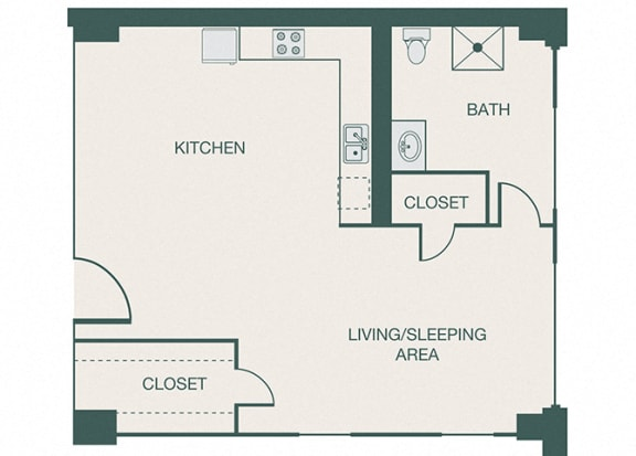 The Kirby - A5 - Loft - Studio - 1 bath