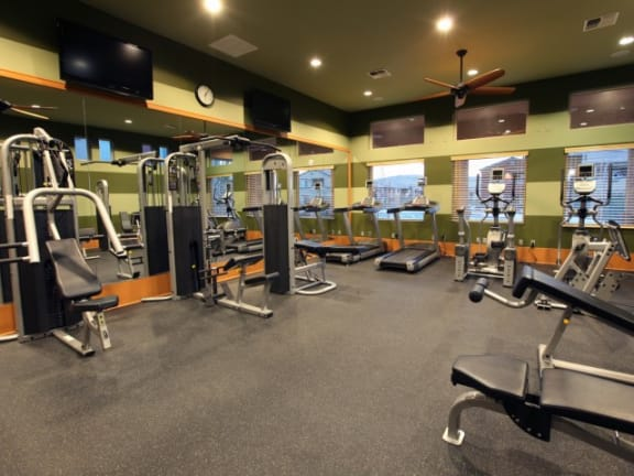 Fitness Room l The Trails at Pioneer Meadows Apartments in Sparks NV