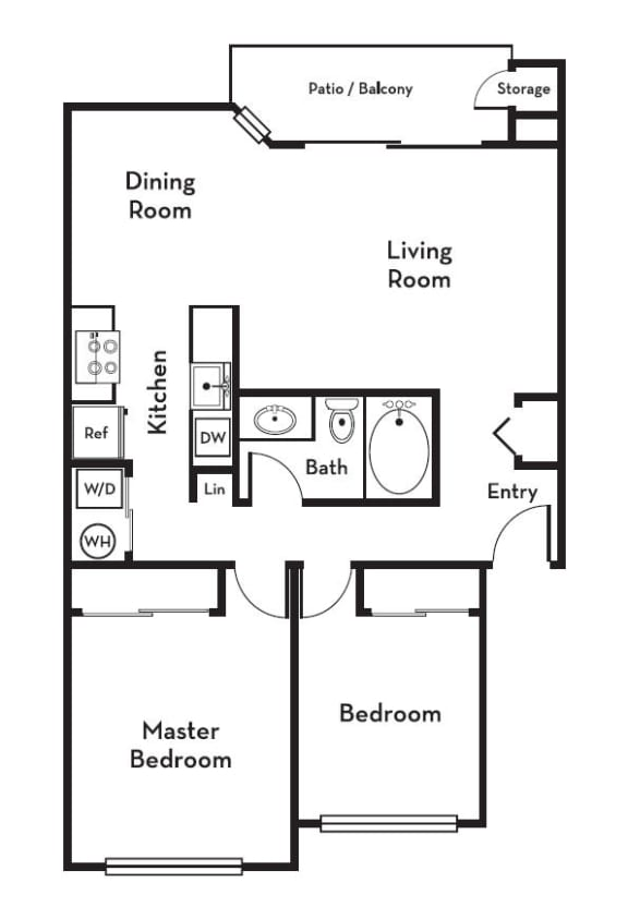 Large Two Bedroom One Bath