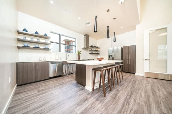 Hub Apartments | Folsom CA |Clubhouse Kitchen