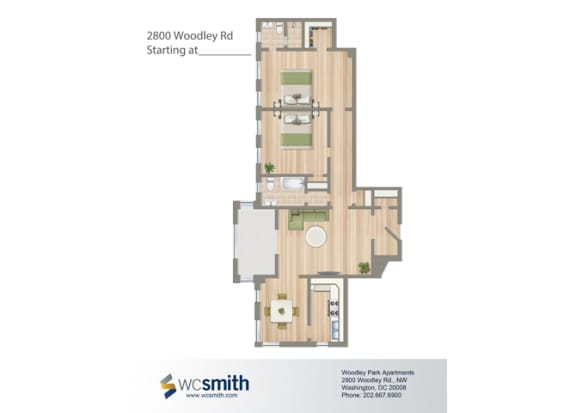 1130-Square-Foot-Two-Bedroom-Apartment-Floorplan-Available-For-Rent-2800-Woodley-Road