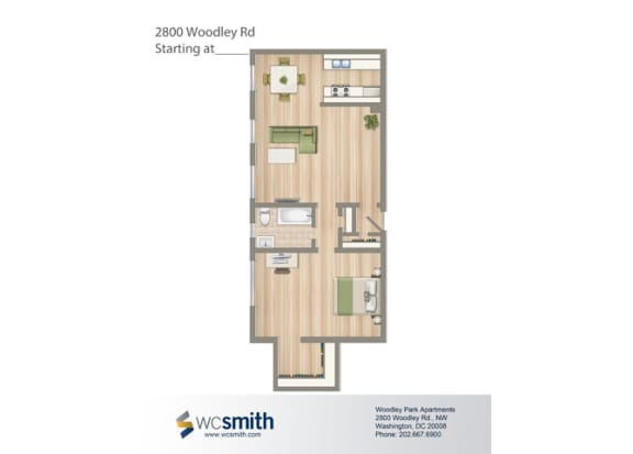 693-Square-Foot-One-Bedroom-Apartment-Floorplan-Available-For-Rent-2800-Woodley-Road