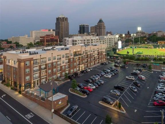 Baseball Stadium Arial View at Greenway at Fisher Park, North Carolina