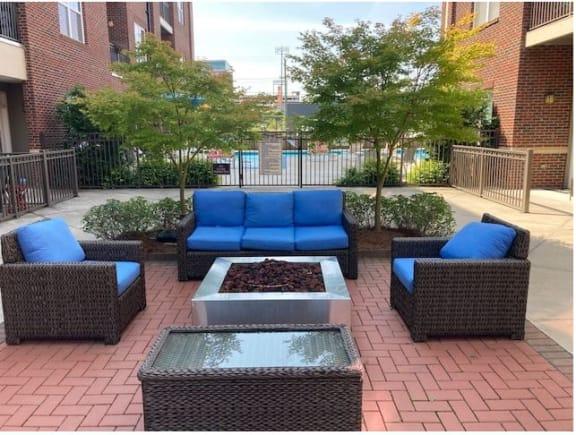 Sun Porch Courtyard at Greenway at Fisher Park, Greensboro, NC