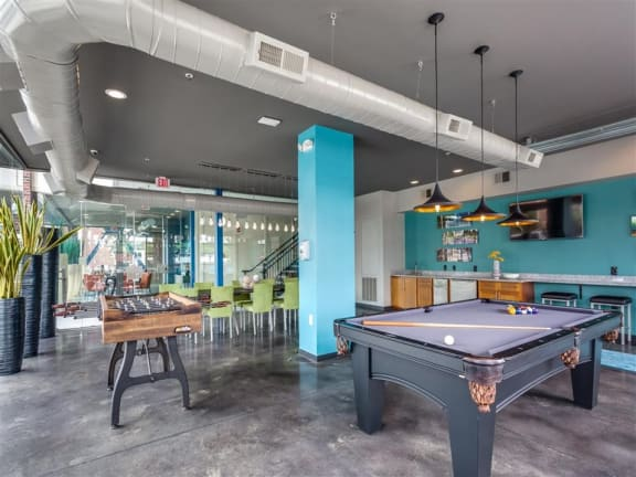 Billiards Table In Game Room at Greenway at Fisher Park, Greensboro, NC, 27401