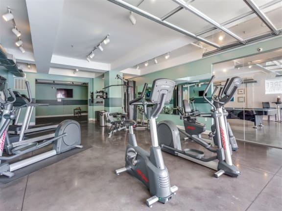 Fitness Center With Modern Equipment at Greenway at Fisher Park, Greensboro, North Carolina