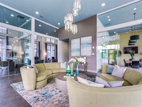 Picturesque Lobby Area at Greenway at Fisher Park, Greensboro