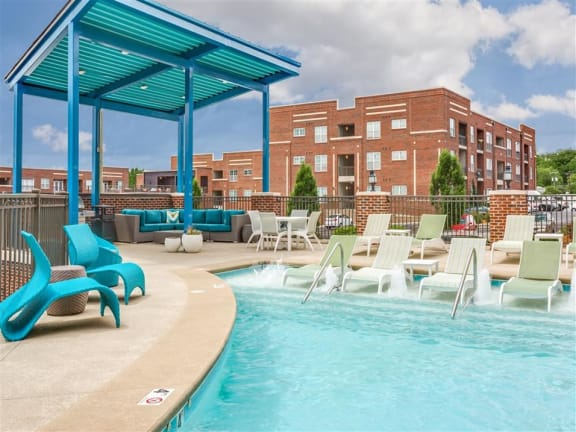 Relaxing Swimming Pool With Sundeck at Greenway at Fisher Park, North Carolina, 27401