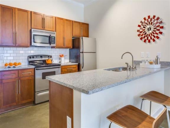 Well Equipped Kitchen at Greenway at Stadium Park, North Carolina, 27401