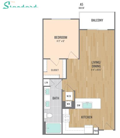 Floor Plan  at The Standard, Scottsdale, 85251