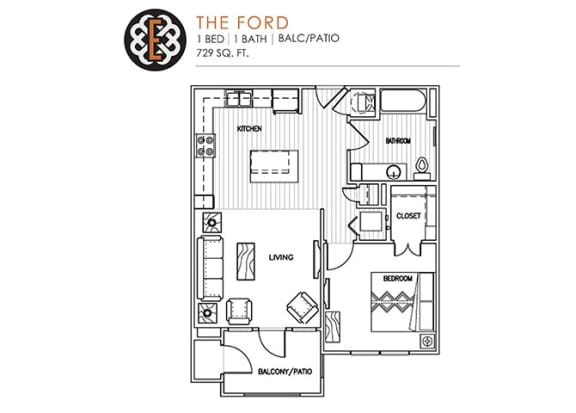 Floor Plan  THE FORD at The Edison at Peytona, Tennessee