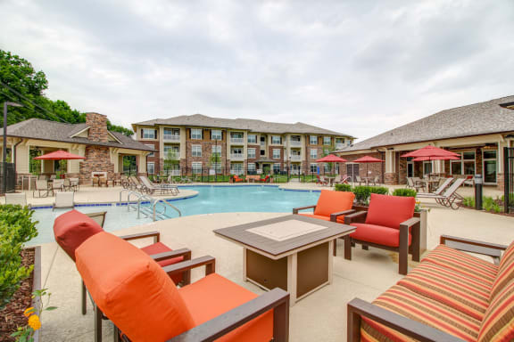 Resort Style Pool & Sundeck w/ Fire Pits  at The Edison at Peytona, Gallatin