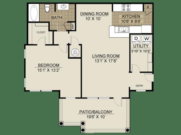 Floor plan at Veranda property LLC, Georgia, 30044