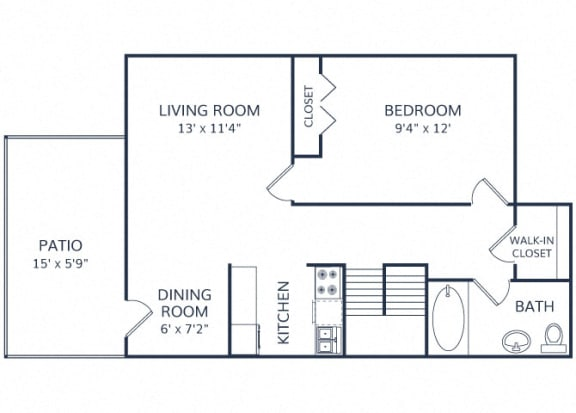 Barnum One Bedroom Townhome