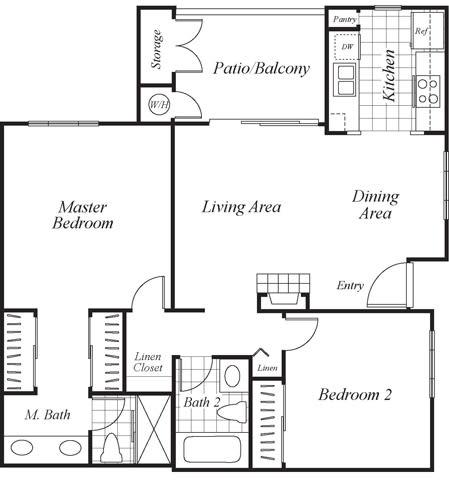 Floor Plan  B1 floor plan at Westbrook Apartments in San Diego, CA