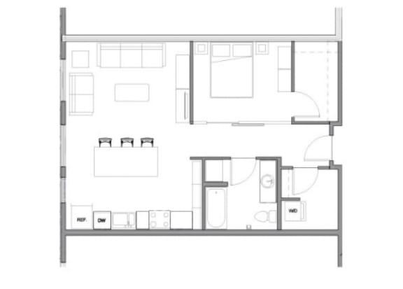 Floor Plan at Allez, Redmond,Washington