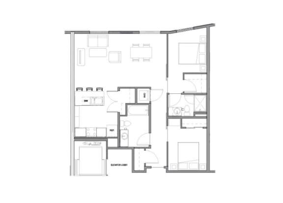 Floor Plan at Allez, Washington