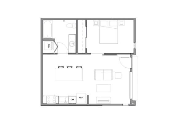 Floor Plan at Allez, Redmond, WA 98052
