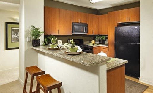 Breakfast counter in Trio Apartments