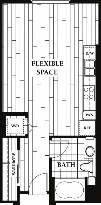 Floor Plan  Floor plan at Trio Apartments, California, 91101