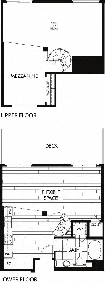Floor Plan  Floor plan at Trio Apartments, Pasadena, CA 91101