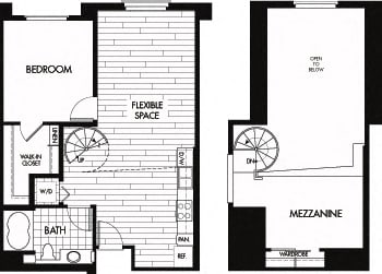 Floor plan at Trio Apartments, Pasadena