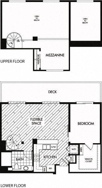 Floor Plan  Floor plan at Trio Apartments, California