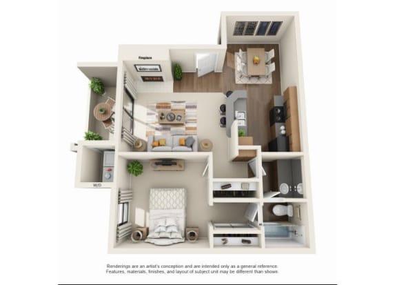 Floor Plan  1 bedroom Classic | One bedroom One bathroom