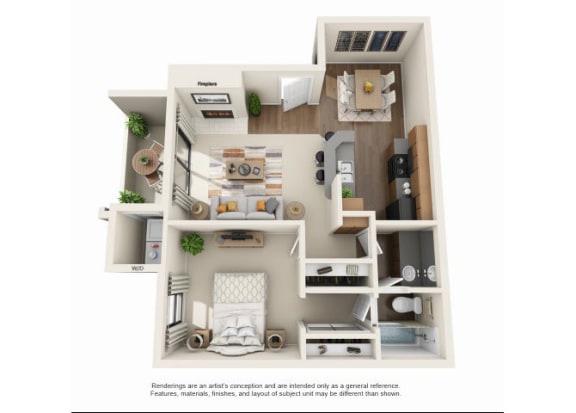 Floor Plan  1 bedroom Casita Renovated | One bedroom One bathroom
