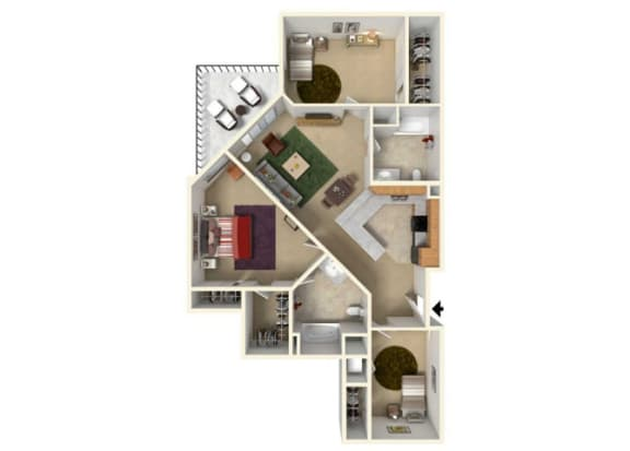 Floor Plan at Redmond Square, Washington