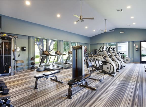 Large 24-hour Fitness Center, at Lakeview at Superstition Springs, Arizona, 85206