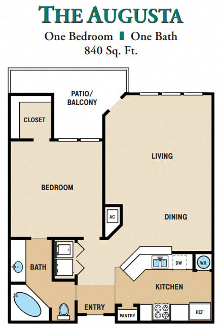 Floor Plan  One Bedroom One Bathroom
