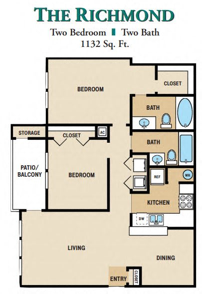 One Bedroom One Bathrorom