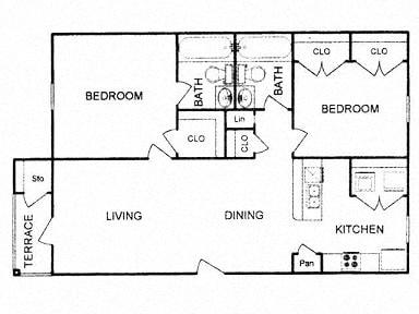 Floor Plan  Floor plan at Clear Creek Meadows, Texas