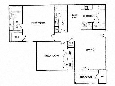 Floor Plan  Floor plan at Clear Creek Meadows, Copperas Cove , TX 76522