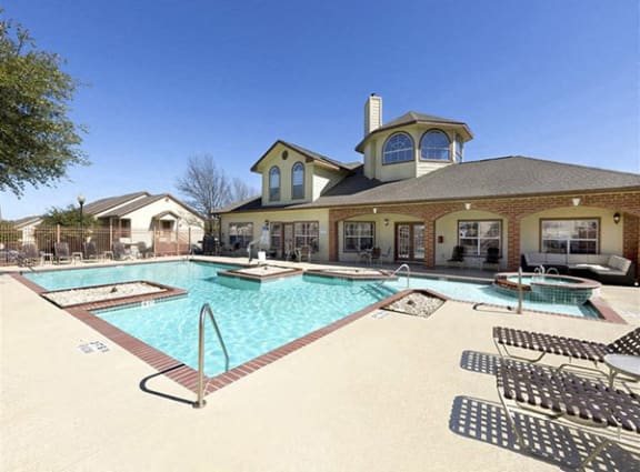 Swimming pool at Clear Creek Meadows apartments