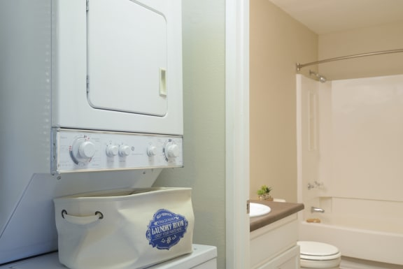 Washers and Dryer in unit at Waterleaf Apartment Homes, 333 North Emerald Drive