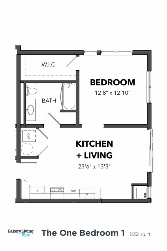 Bakery Living One Bedroom 1, apartments in Pittsburgh, Pennsylvania