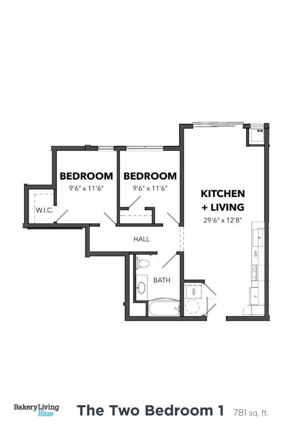 Bakery Living Two Bedroom 1, apartments in Pittsburgh, PA