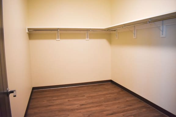 Walk In Closets at Bakery Living Apartments in Shadyside, Pittsburgh, PA
