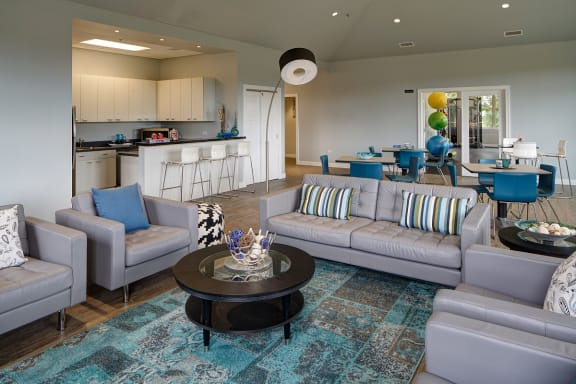 Stylish Resident Lounge with Kitchen at Eagle Creek Apartments, 1130 S. Williams Street, Westmont