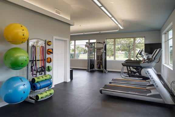 Fitness Center with Cardio Equipment at Eagle Creek Apartments, IL 60559