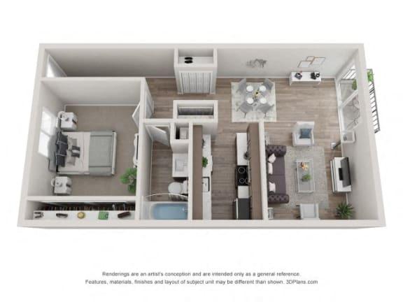Floor Plan  Aspen Floor Plan - Eagle Creek Apartments