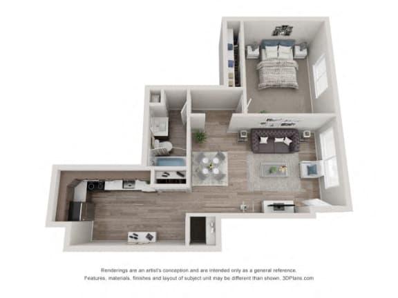 Floor Plan  Birch Floor Plan - Eagle Creek Apartments